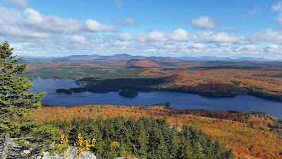 Fall Foliage in October View from the Peak of Mosquito Mountain The Forks, Maine