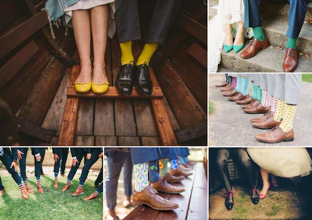 inspiration chaussettes de marié originales et colorées blog mariage unjourmonprinceviendra26.com