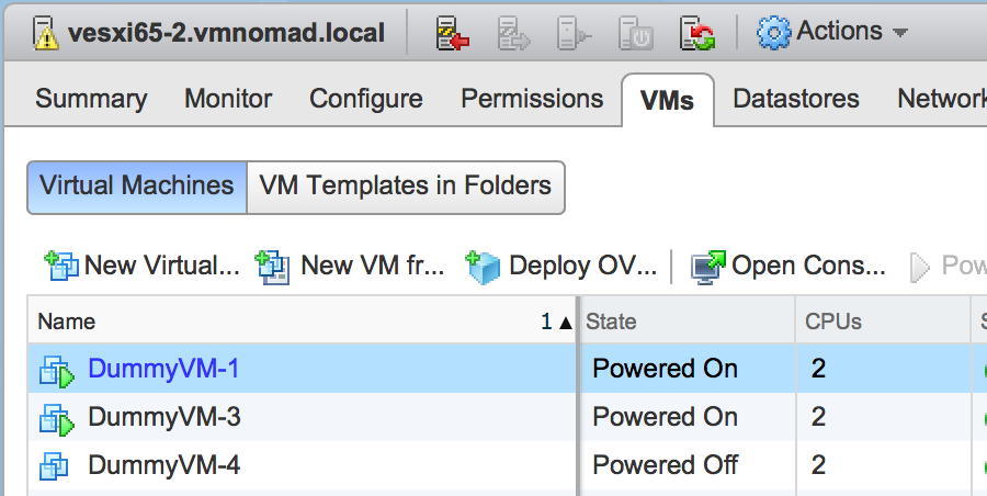 Virtual Nomad: Testing new vSphere 6 5 feature - DRS CPU