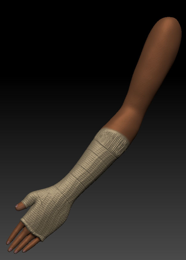 arm cast future left zbrush