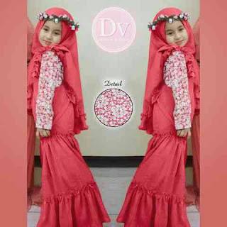 Baju Muslim Anak Perempuan Umur 6 Tahun