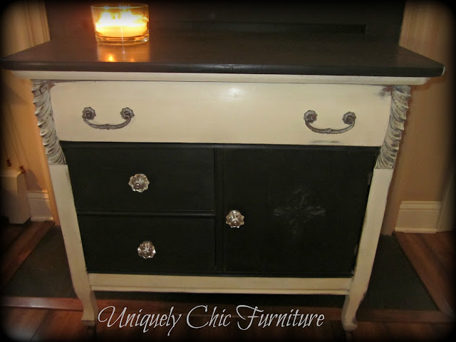 Uniquely Chic Furniture Graphite And Old White