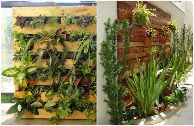decoracao para jardim de madeiraDecoração Jardim vertical com