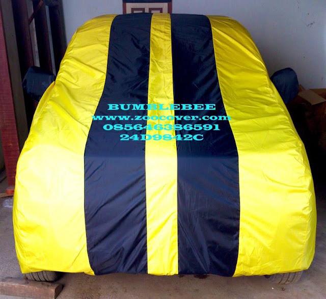 Jual Cover mobil Model Bumblebee custom menggunakan bahan yang bagus waterproof import korea Sarung Mobil kualitas super kombinasi warna Selimut Mobil harga murah produk terbaik penutup mobil dan pelindung mobil anda dari debu, panas matahari, tahan air dan panas