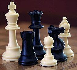Piezas de ajedrez (Rey, dama, torre, caballo, alfil, peón)