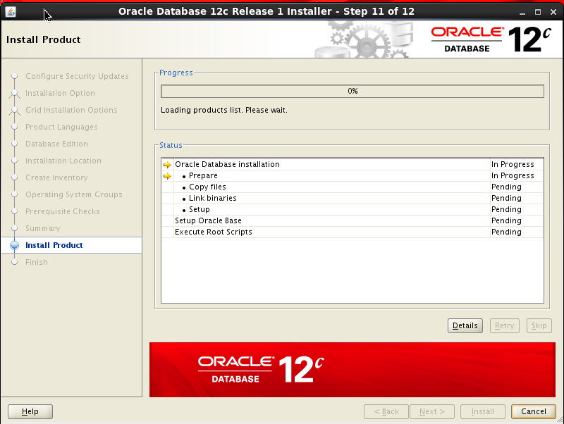 Install Oracle Database 12c on Linux ~ Dilli's Oracle/MySQL