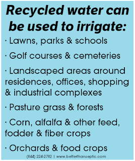 Recycled water has many applications and uses