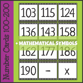 https://www.teacherspayteachers.com/Product/Number-Cards-100-200-3490544