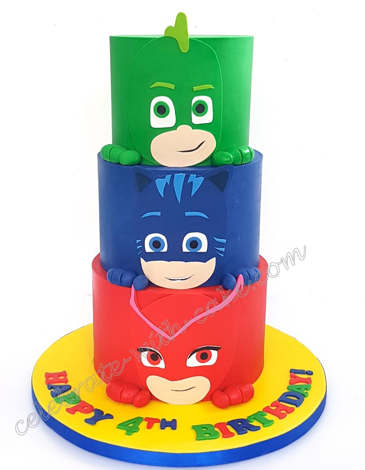 Celebrate With Cake Pj Mask 3 Tiers