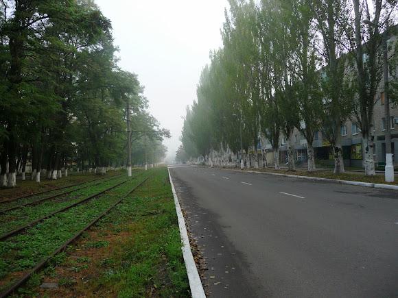 Авдіївка. Проспект Центральний. Трамвайне сполучення в місті відсутнє