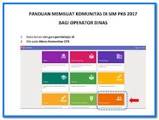Langkah-Langkah Dalam Memasukkan Komunitas Pada SIM PKB