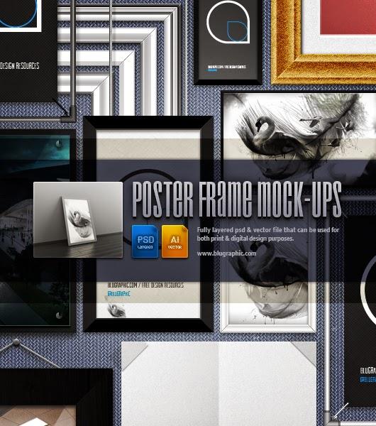 Poster Frame Mockups PSD