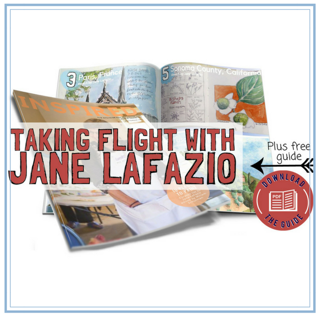 jane lafazio interview about painting, quilting and art