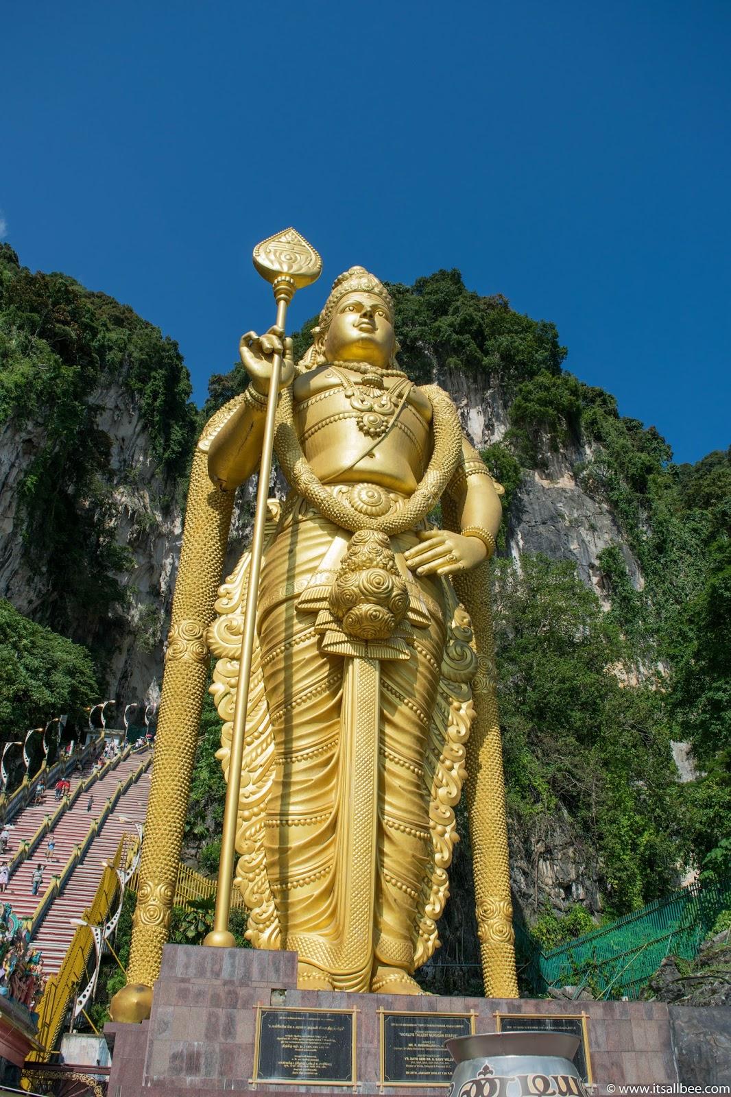 Batu Caves Temple Statue Giant Kuala Lumpur Malaysia