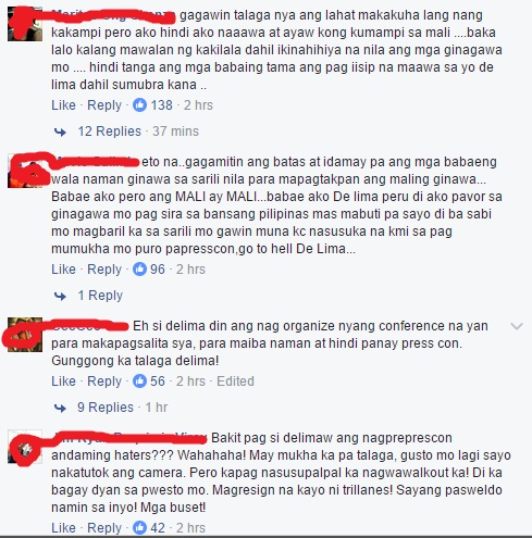 De Lima Is Asking For Support From Women's Groups, Read How Our Women Netizens Reacted!