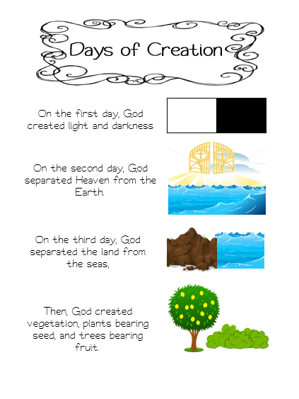 Adventures in Teaching First Grade Catechism: Days Of ...
