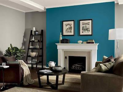 warna cat ruang tamu yang cantik terbaru