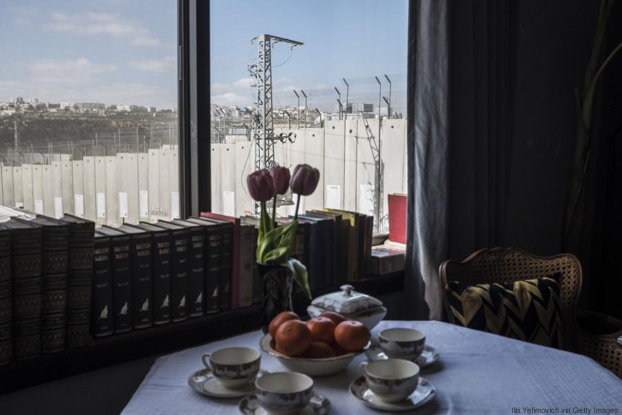 The Walled Off Hotel Banksy Opened His First Hotel Next To Bethlehem Wall