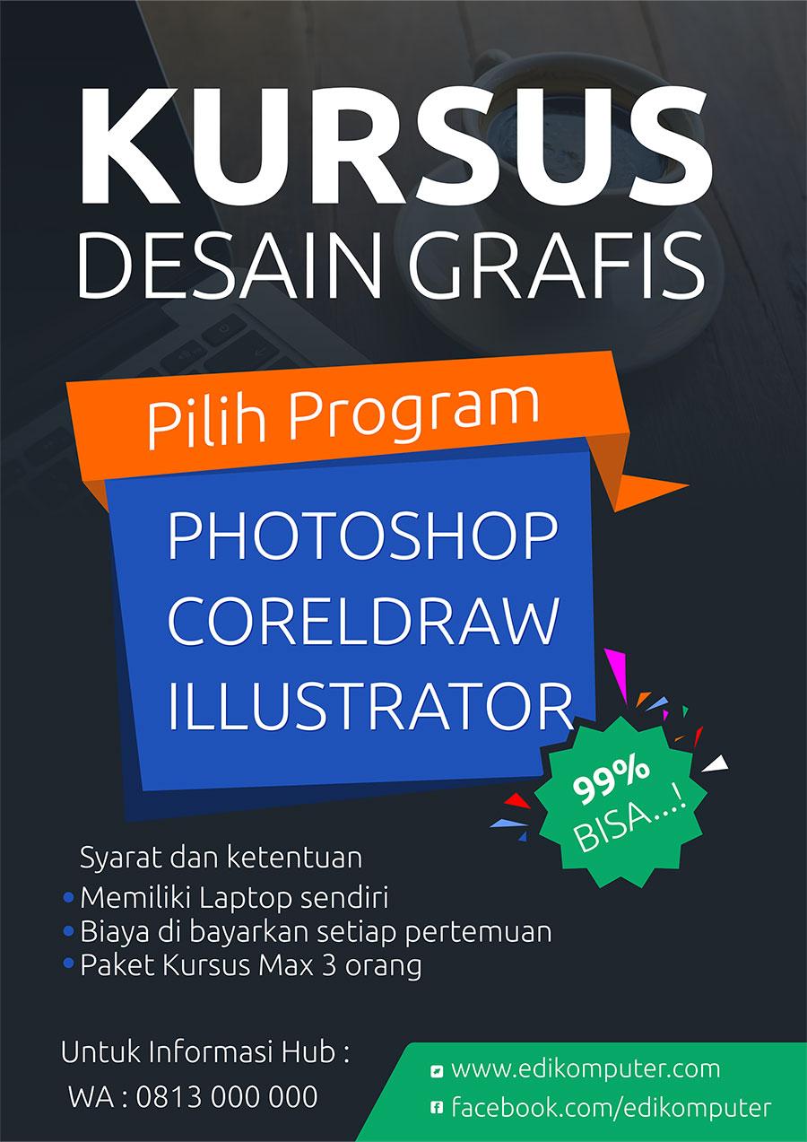 Download contoh desain Poster format coreldraw