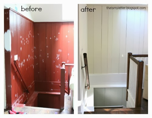 stairwell before and after