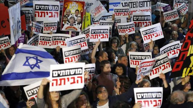 """Corrupto vete a casa"": Israelíes toman calles contra Netanyahu"
