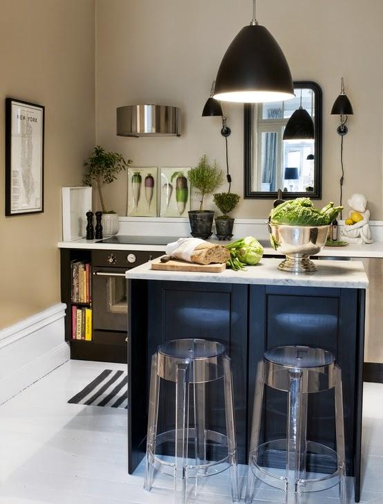 PUNTO SANITARIO: Ideas para colocar una isla en cocinas pequeñas.