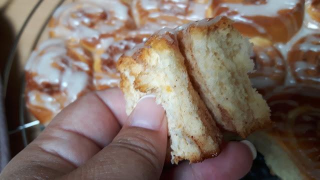 Fluffiger Zimtschneckenkuchen mit Zuckerguss