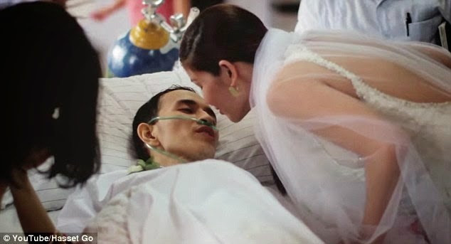 Dying Cancer Patient Rowden Go Pangcoga Marries Girlfriend ...
