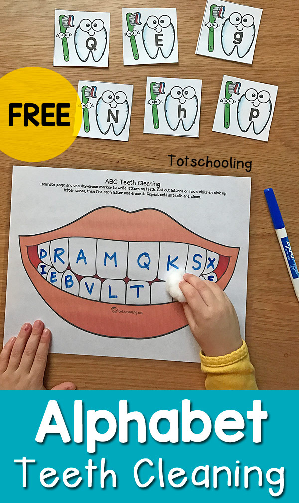 preschool dental health activities alphabet teeth cleaning activity for dental health month 125