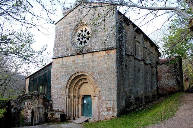 Monasterio de Santa Cristina de Ribas del Sil en la Ribera Sacra, Orense