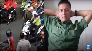 Ini Kronologi Oknum TNI Yang Pukul Anggota Polantas di Pekanbaru