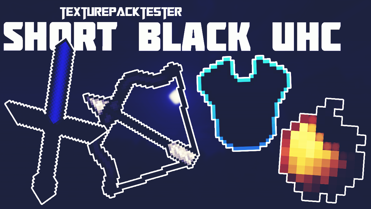 SHORT BLACK UHC TEXTURE PACK   IOS / ANDROID   MINECRAFT ...