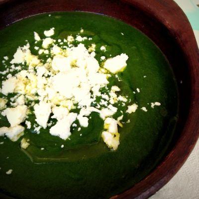 sopa de espinaca sin lacteos