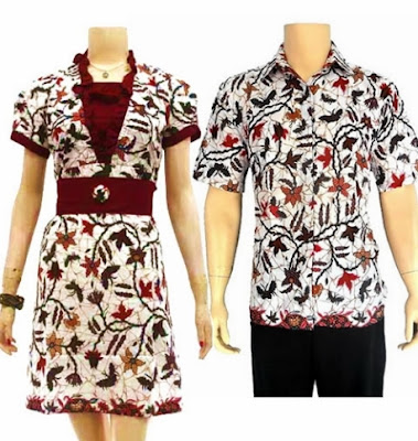 Ide baju couple batik pekalongan