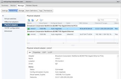 Running ESXi 5 5/5 5u1 on Apple Mac Mini + Thunderbolt