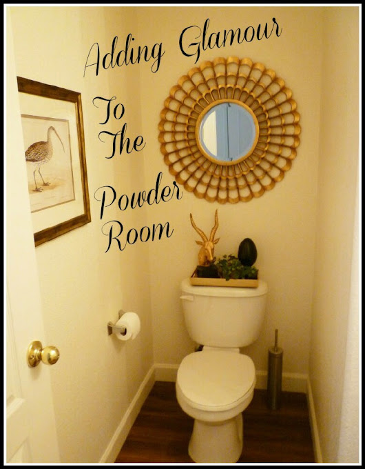 Adding Glamour To The Powder Room