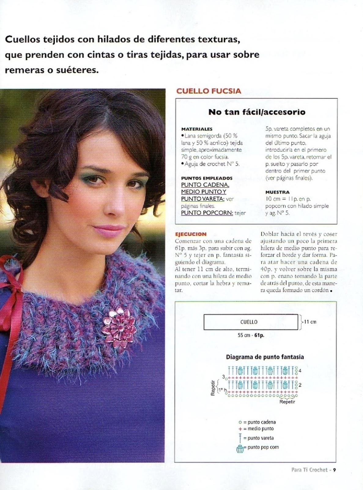 Cuello Bufanda Crochet 2 Puntos Instrucciones