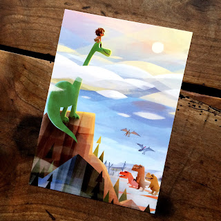 "The Good Dinosaur ""A New World of Adventure"" Postcard by Joey Chou"