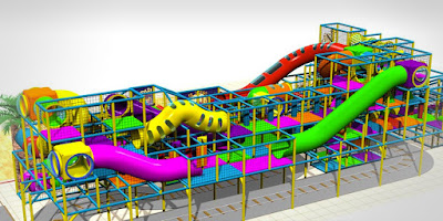 indoor playground play structure softplay