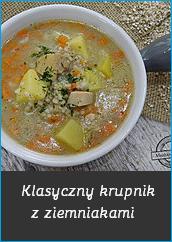 Klasyczny krupnik z ziemniakami zupa przepis nie zupa krem dla dziecka niejadek zupka z kaszy jaglanej z marchewką sup recipe potato mechanik w kuchni