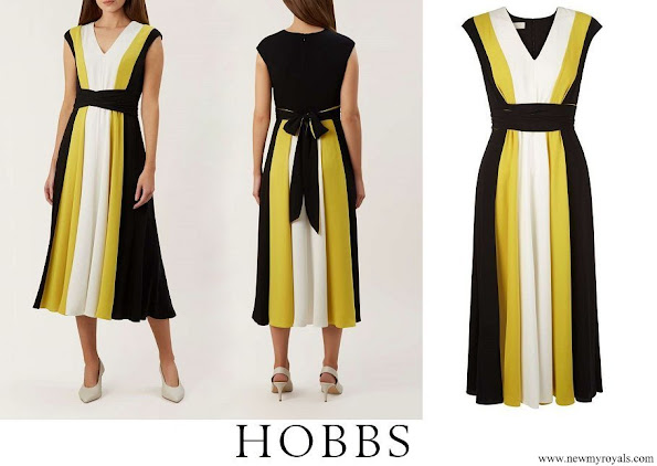 Princess Stephanie wore Hobbs Bailly Dress