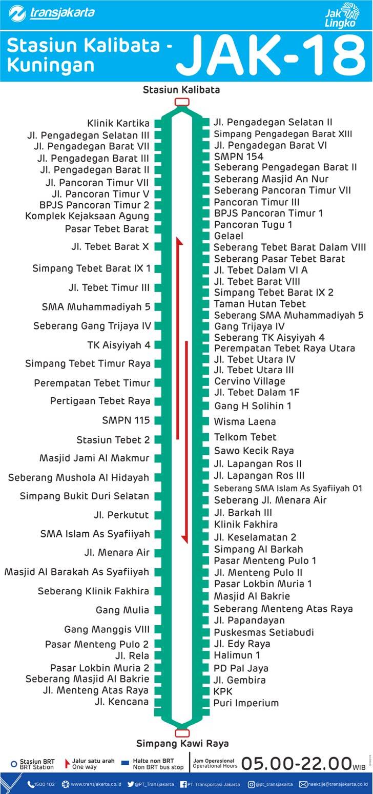 peta rute transjakarta st kalibata - kuningan