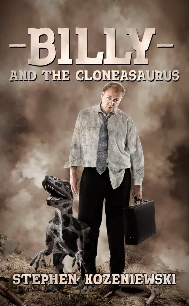 http://www.amazon.com/Billy-Cloneasaurus-Stephen-Kozeniewski-ebook/dp/B00L7RXG6U/ref=sr_1_1?s=books&ie=UTF8&qid=1418930188&sr=1-1&keywords=science+fiction