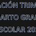 PLANEACION PRIMER TRIMESTRE 4° PRIMARIA CICLO ESCOLAR 2018-2019
