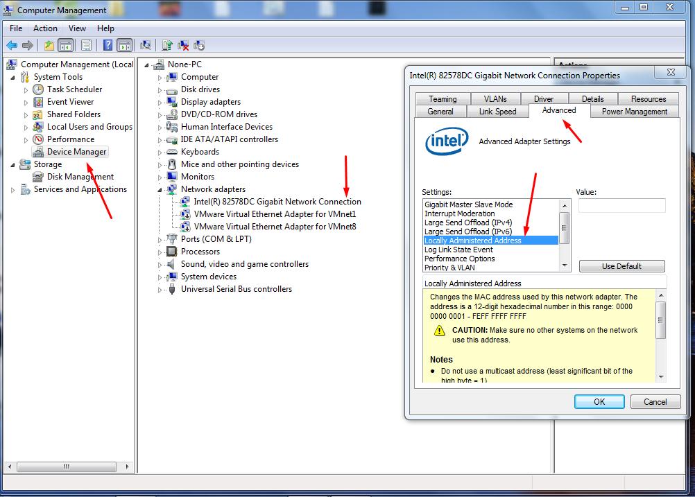 how to see mac address windows 7