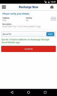 Aircel App Make Recharges