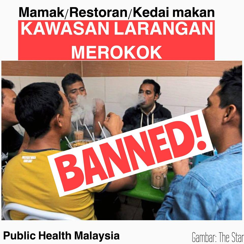 Image result for larangan merokok di kedai makan