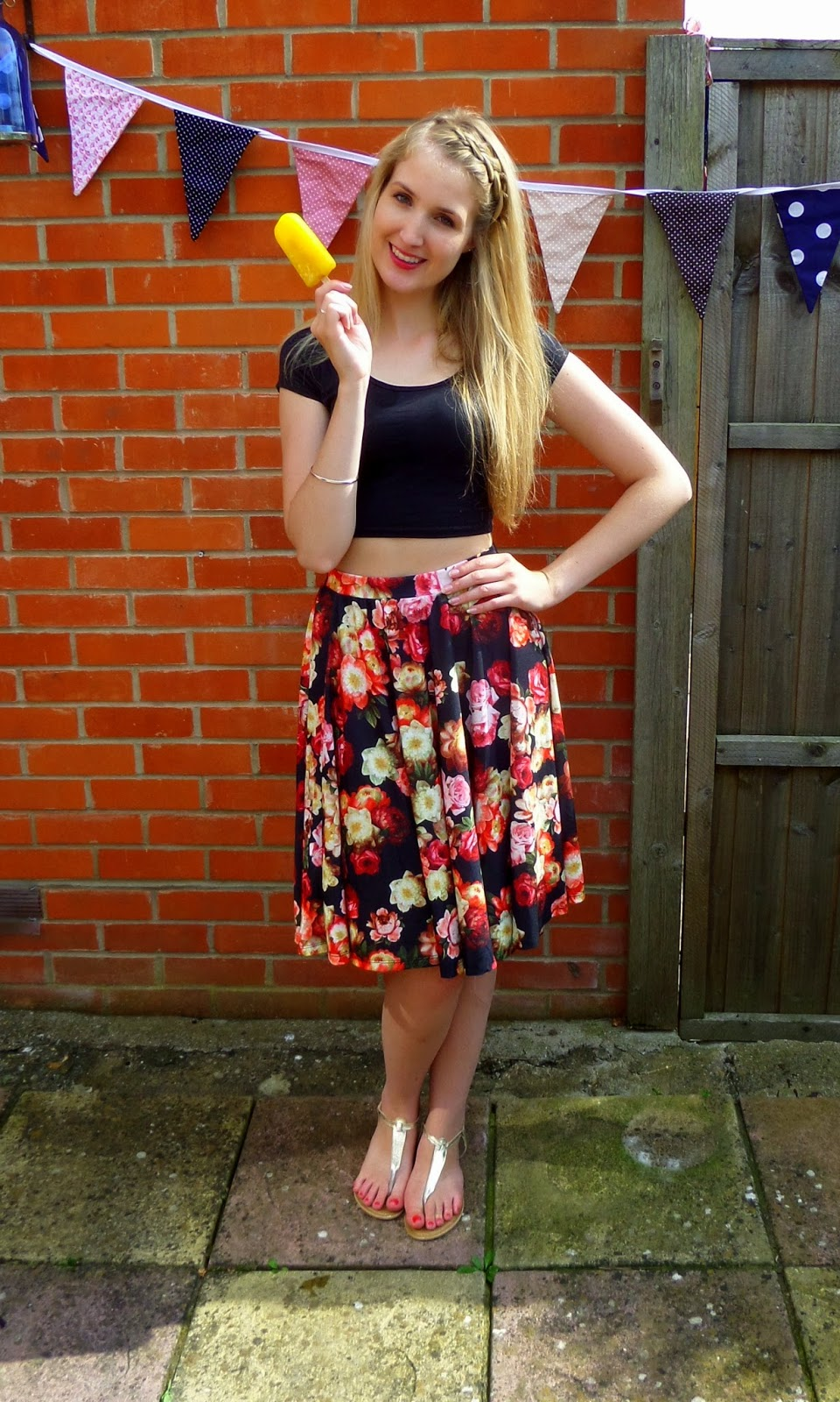 OOTD: Denim Skater Skirt | Lauren Loves Blog