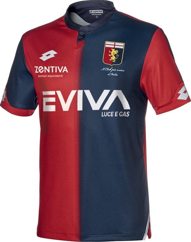 A fabricante de material esportivo Lotto divulgou os novos uniformes que o  Genoa usará na temporada 2018 19 do Campeonato Italiano de futebol. 582f31ab472fa