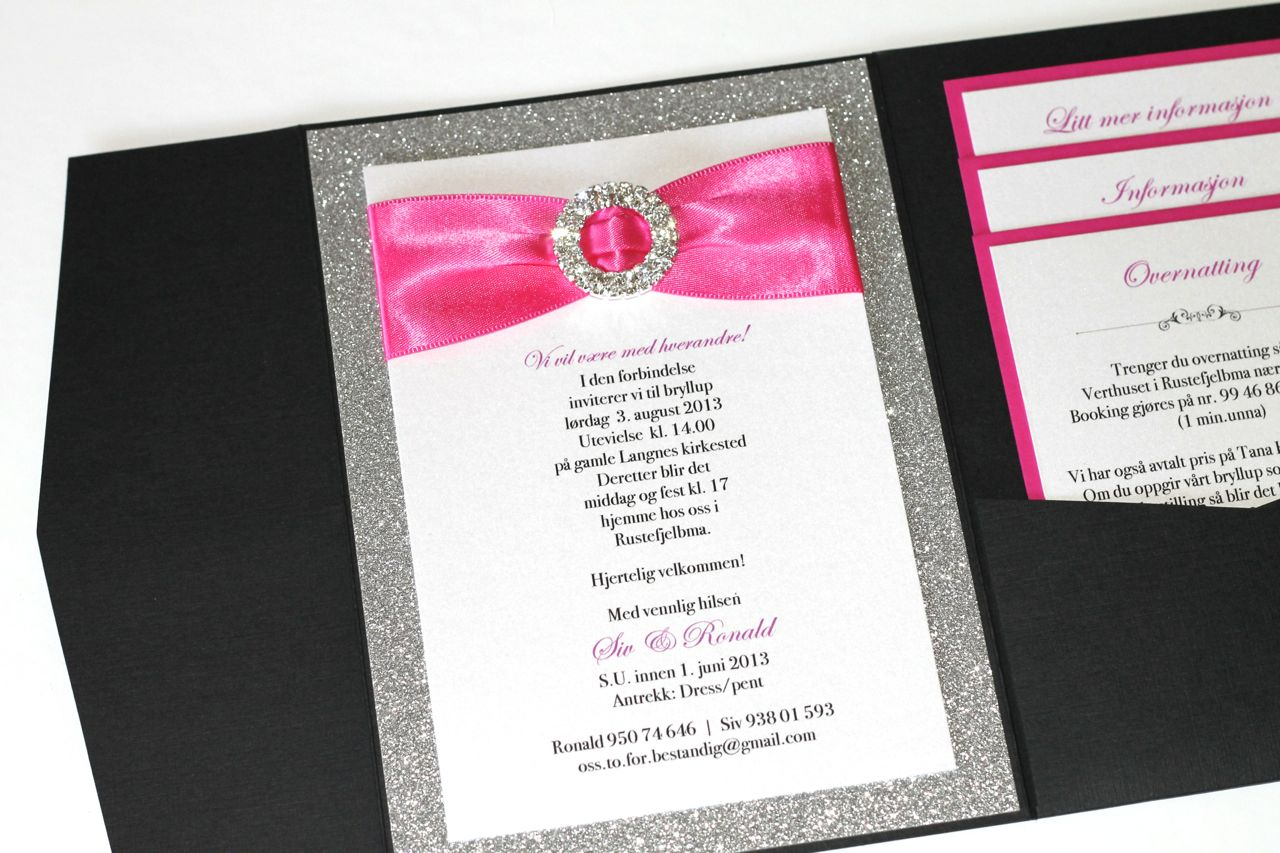 Embellished Paperie Silver Glitter Hot Pink And Black